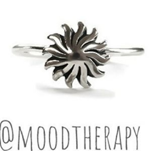 Sterling Silver Tribal Stacking Ring, sz 5